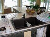 ilôt de cuisine comptoir de céramique