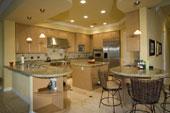 armoires de cuisine et comptoir de cuisine