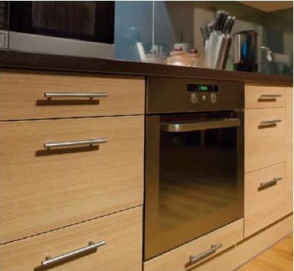 armoires de cuisine en placage de bois un choix tendances. Black Bedroom Furniture Sets. Home Design Ideas