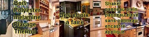 armoires de cuisine faire un choix