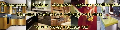 armoire de cuisine et comptoir