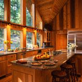 cuisine et maison en bois