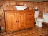 meuble vanité en pin de salle de bain