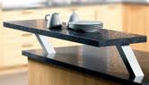 comptoir d'armoires de cuisine, comptoir a deuxième niveau