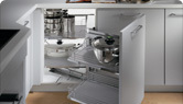 accesoire de cuisine pour armoire de cuisine en coin