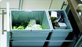 poubelle pour armoires de cuisine, pull out et récupération