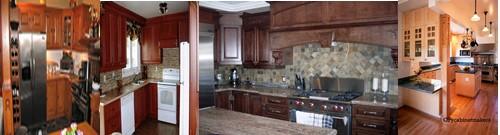 armoires de cuisine en bois, chêne,  merisier et pin décaper et remise a neuf