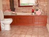 salle de bain bois décoration, ébénisterie