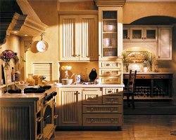 armoires de cuisine en lambris style champetre coueur opaque