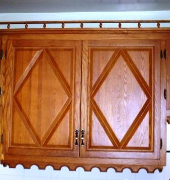 armoires de cuisine en chêne style pointe de diamant