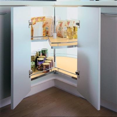 systeme pivotant pour vos coins d'armoires de cuisine