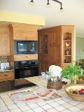 armoires de cuisine en merisier portes de cuisine en bois
