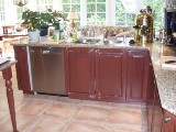 armoires de cuisine, comptoir granite