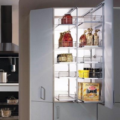 armoires de cuisine, accesoires de cuisine, garde manger jumelé plus d'accessibilité