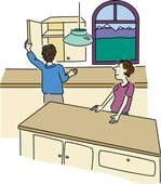 dessin armoires de cuisine