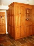 armoires de cuisine dans couloir