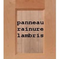 porte d'armoires de cuisine style shaker, lambris comme des rainures