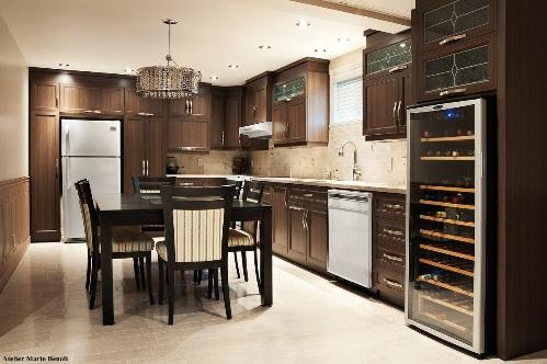 armoires de cuisine en polyester