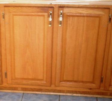 armoires de cuisine en chêne portes