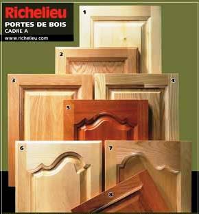porte d'armoires de cuisine, choix de portes