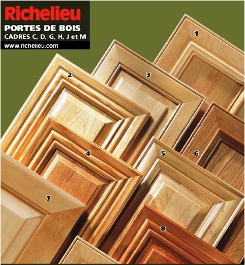 armoires de cuisine portes de bois