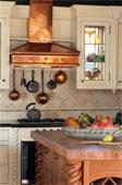 armoires de cuisine , hotte de poêle, ilôt