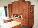 armoires de cuisine en pin écologique finition a l'huile