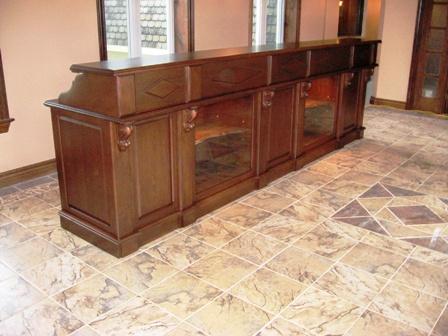 meubles de réception, comptoir de réception ébénisterie commercial