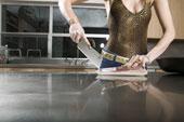 armoires de cuisines comptoir acier inoxidable
