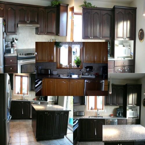 rénovation d'armoires de cuisine