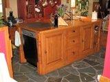 ilot de cuisine en bois et comptoir en bois
