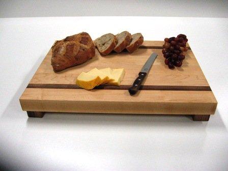 Planche de bois style boucher pour comptoir de cuisine