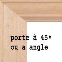 armoire de cuisine, porte qui montre un assemblage a 45*