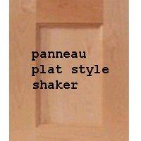 shaker, armoire  de cuisine, porte dont le panneau est plat