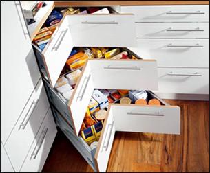 tiroirs de cuisine en coi